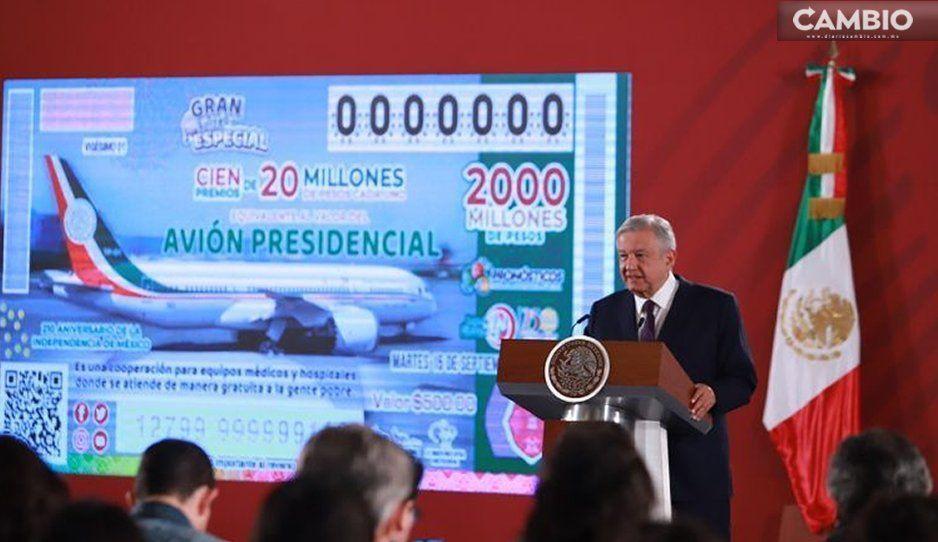 ¡Es en serio! AMLO confirma rifa del avión presidencial; habrá 100 premios de 20 millones de pesos