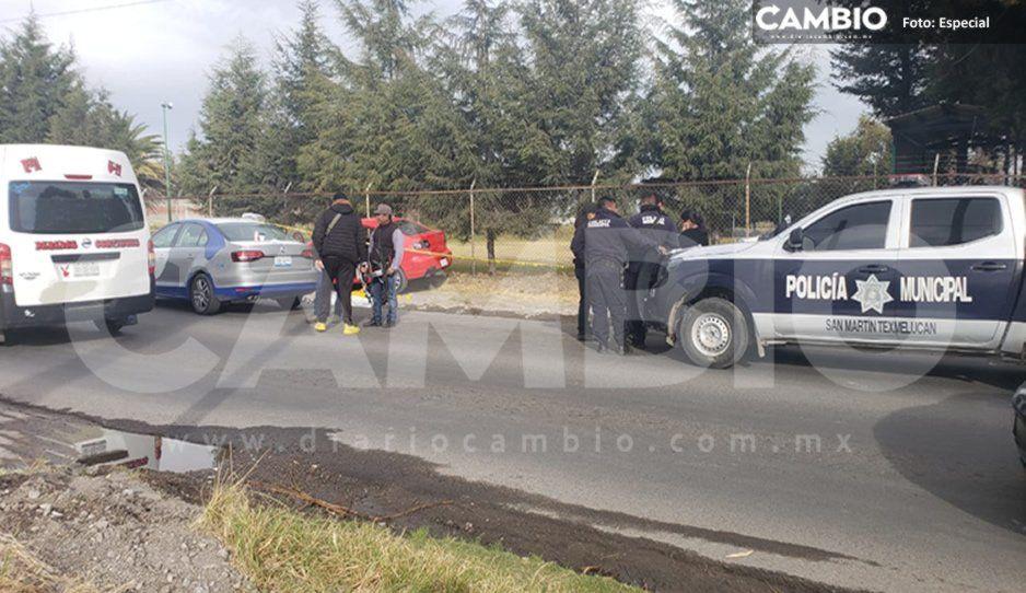 Asesinan a balazos a hombre frente a bar de Texmelucan