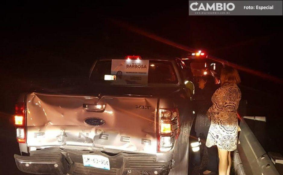 Regidores del ayuntamiento de Tehuacán sufren accidente carretero