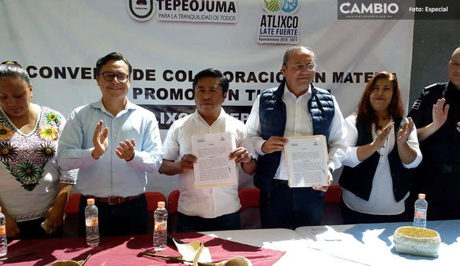 Firman convenio turístico entre Tepeojuma y Atlixco