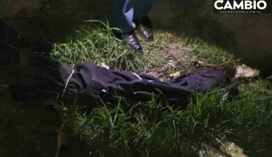 Hallan cadáver putrefacto y embolsado en el dren de Valsequilllo en Tecamachalco