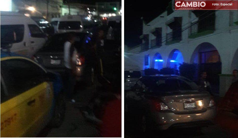 Transportistas toman la presidencia de Chiautla de Tapia