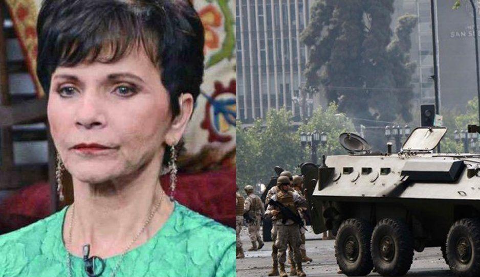 """Pati Chapoy llama """"vandálicas"""" a feministas y sugiere calmarlas con agua y tanquetas"""