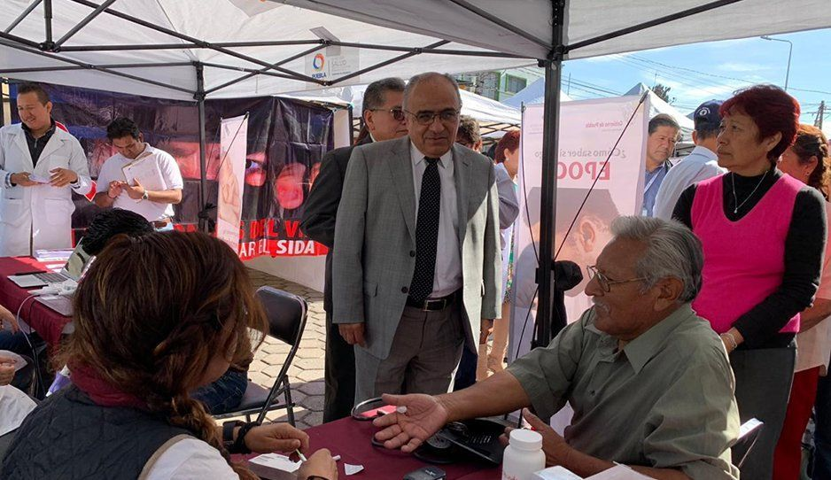 La Secretaría de Salud es un éxito en la Novena Jornada Ciudadana en Hueyotlipan