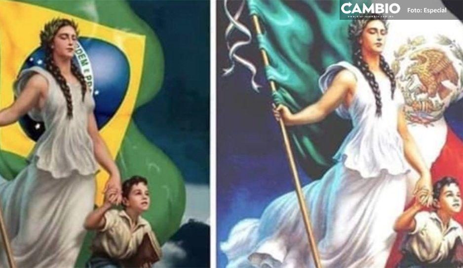 ¡Que genios! Ministerio de Educación de Brasil  plagió imagen de la patria mexicana