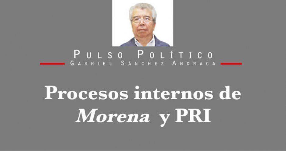 Procesos internos de Morena y PRI