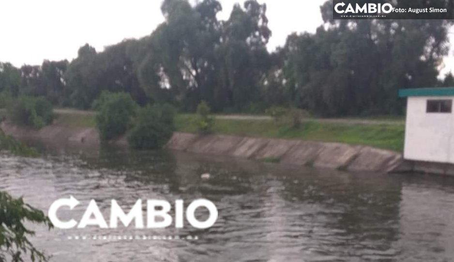 VIDEO: Flota cadáver en dren de Valsequillo, vecinos no pudieron rescatarlo