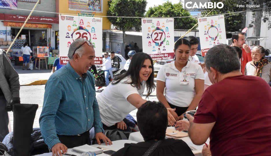 Miércoles Ciudadanos benefician a cientos de habitantes de juntas auxiliares de Texmelucan