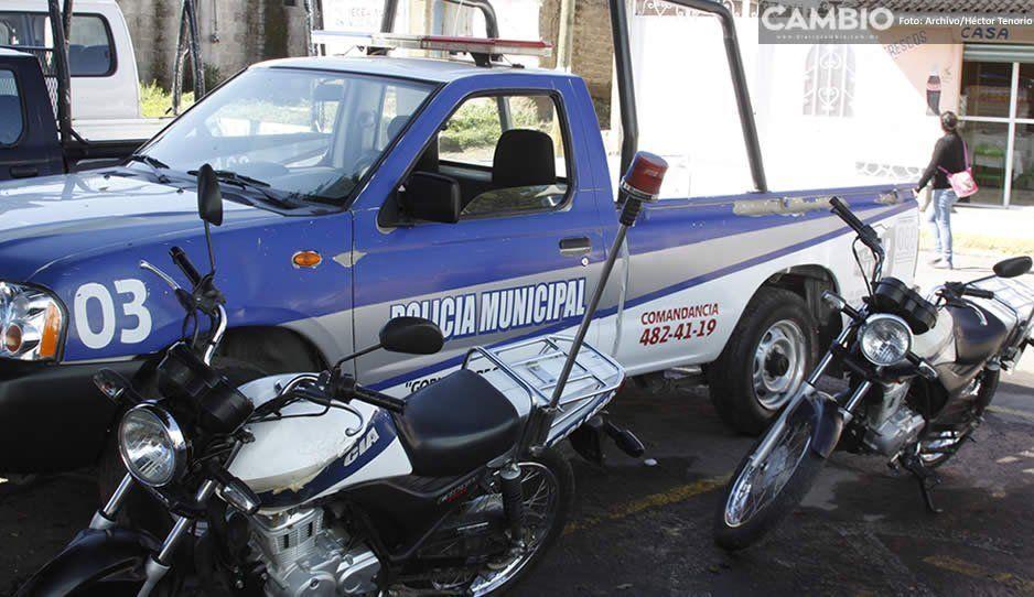 ¡Ahora quién podrá defendernos! Policía de Teotlalcingo opera desarmada
