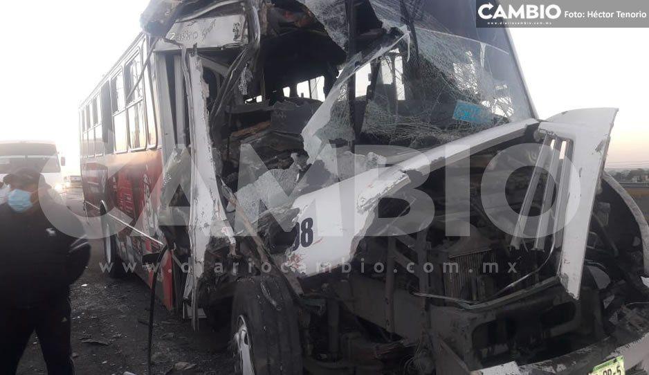 Deja 15 lesionados aparatoso choque en la México-Puebla (FOTOS)