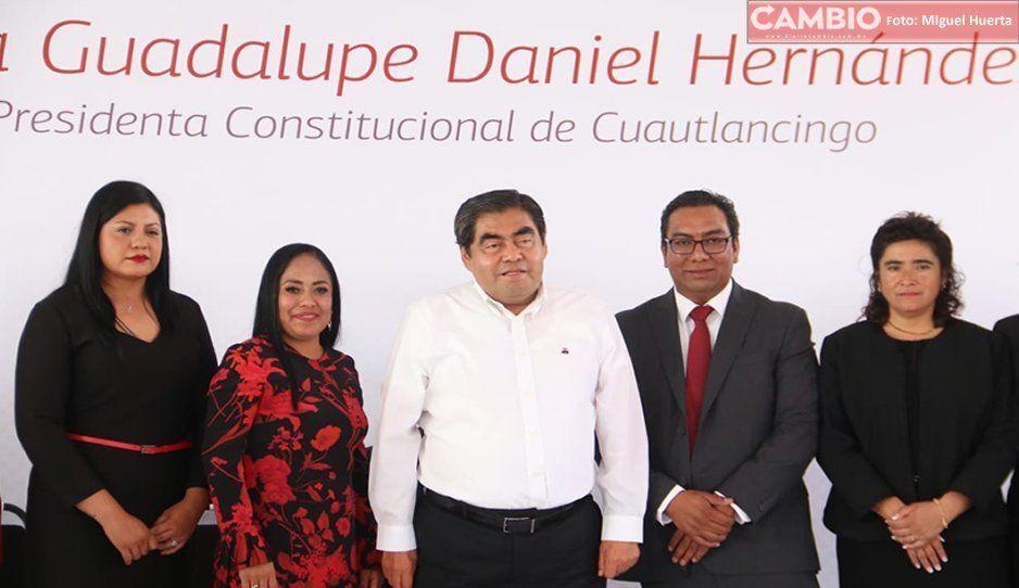 Guadalupe Daniel presume inversión de más de 100 millones en su primer año de gobierno en Cuautlancingo (GALERIA)