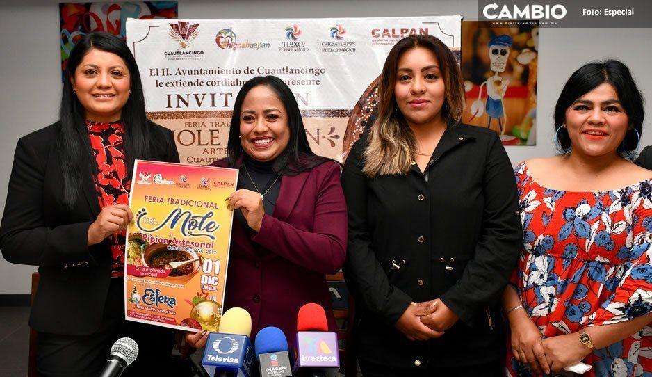 Alcaldesa de Cuautlancingo anuncia la 5ta. Feria del Mole y el Pipián que se realizará el 1 de diciembre