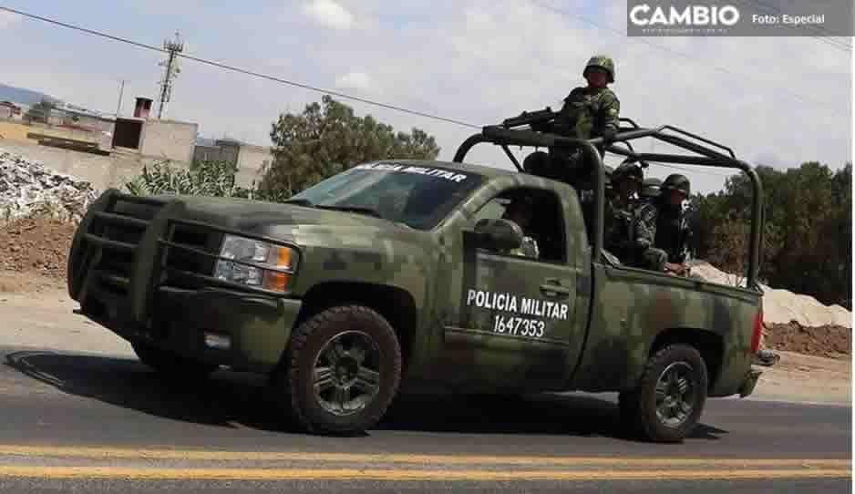 Llegan 60 militares a Tecamachalco y en operativo recuperan vehículos robados