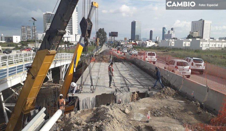 Avance de 95% del puente Santa Clara en el Periférico; concluirán obras en 15 días