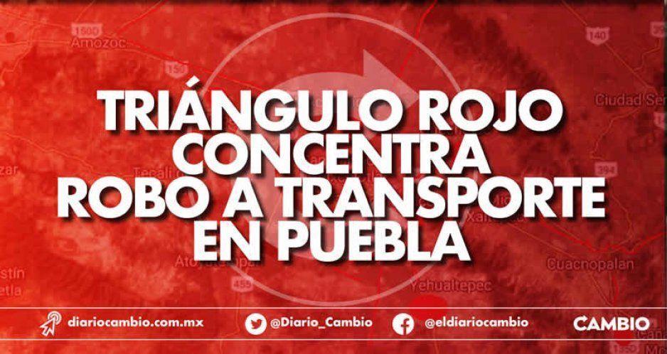 Triángulo Rojo concentra robo a transporte en Puebla