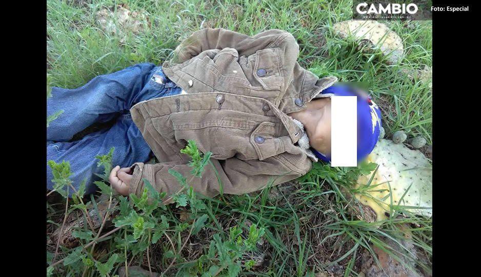 Cruel asesinato a niñito de 5 años: lo estrangulan y tiran su cadáver en carretera de San José Chiapa