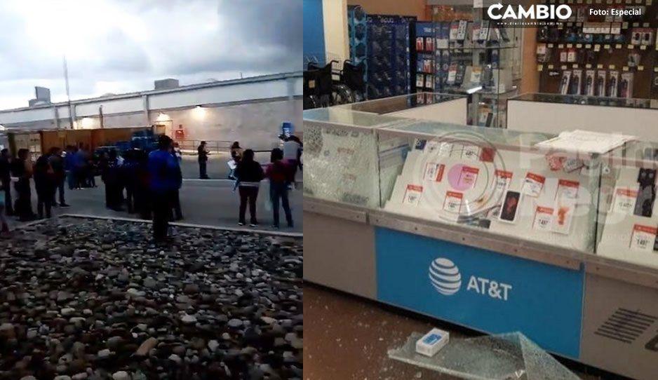 Clientes en pánico escucharon disparos durante el atraco al Walmart de Parque Puebla (VIDEO)