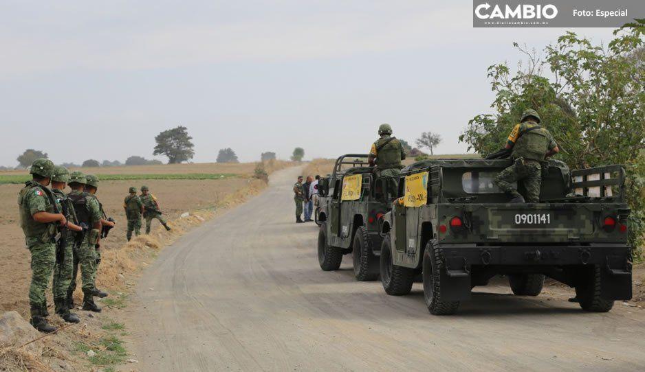 Ayuntamiento de Atlixco y el Primer Regimiento de Caballería Motorizado de la Sedena supervisan rutas de evacuación