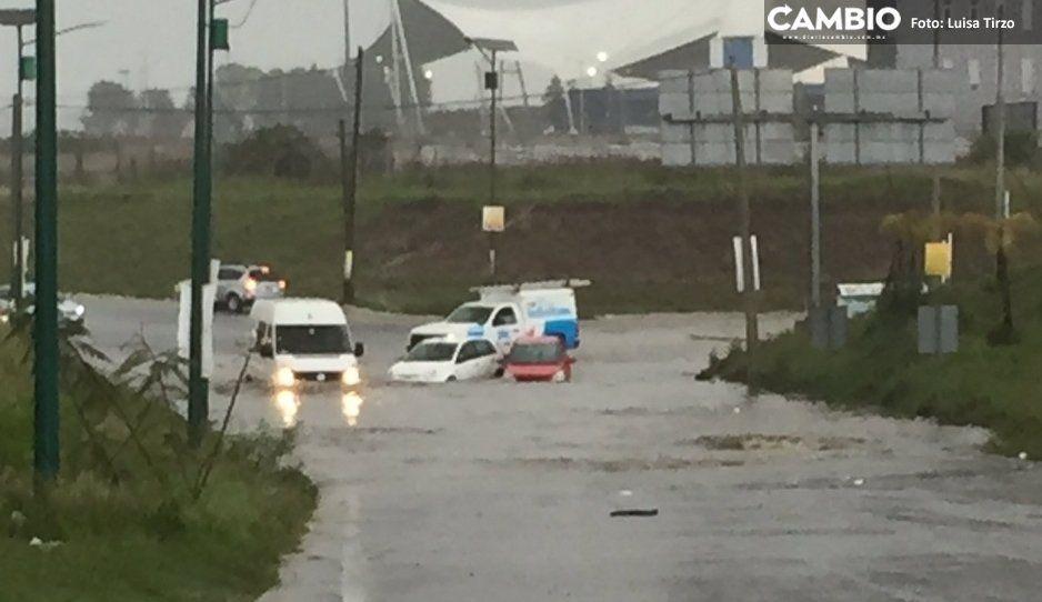 Cuautlancingo, la nueva Venecia: se inundan avenidas tras tremendo lluvión (VIDEO)