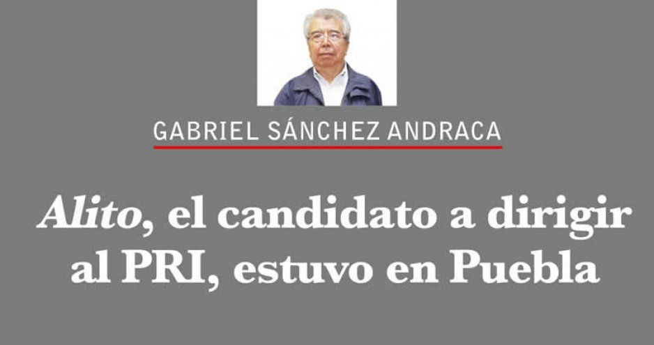 Alito, el candidato a dirigir al PRI, estuvo en Puebla