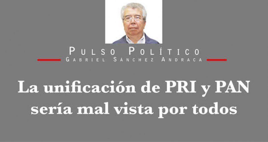 La unificación de PRI y PAN sería mal vista por todos
