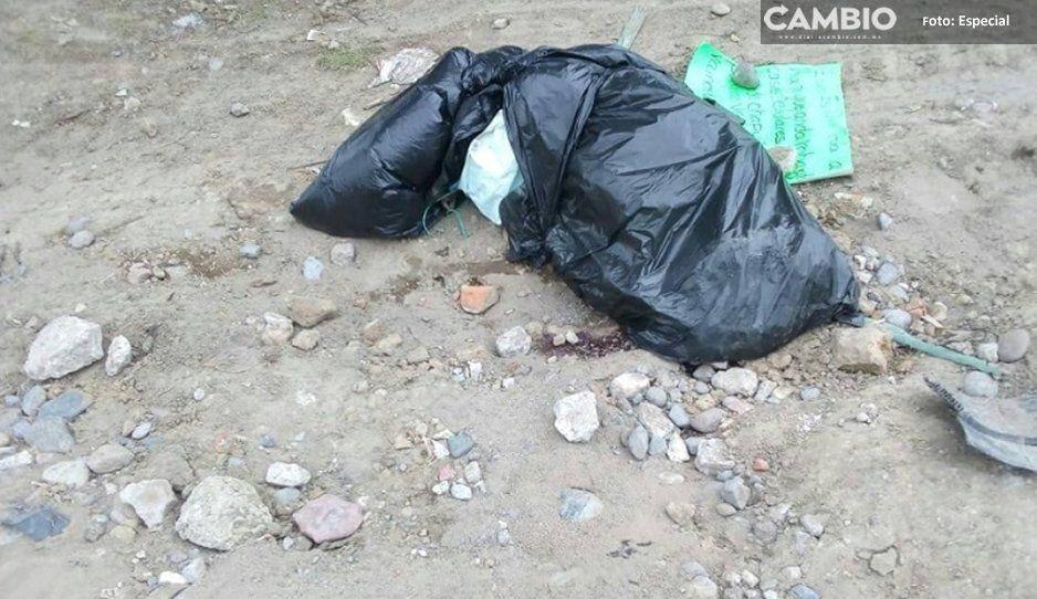 Dejan narco mensaje sobre encobijado  y embolsado en San Salvador El Verde