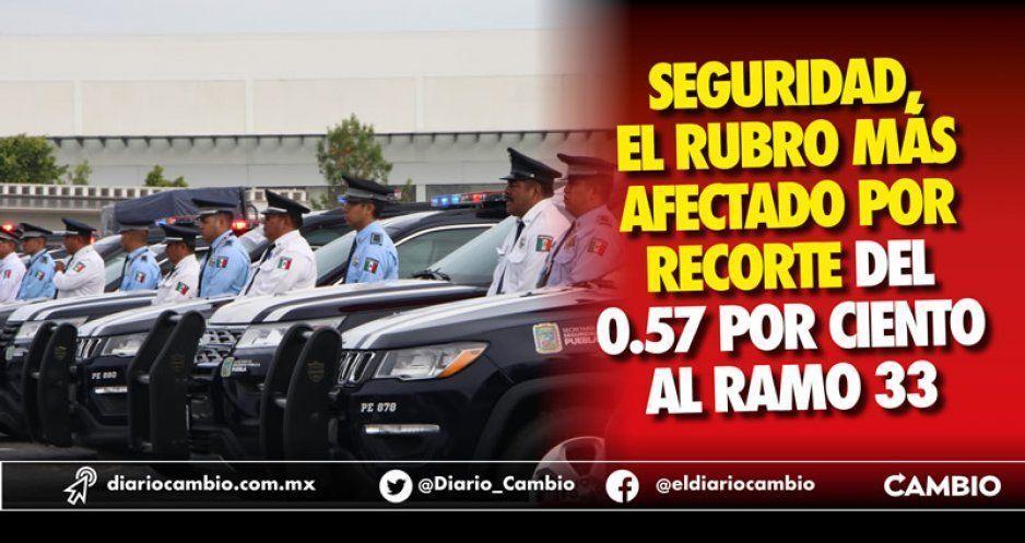 Seguridad, el rubro más afectado por recorte del 0.57 por ciento al Ramo 33
