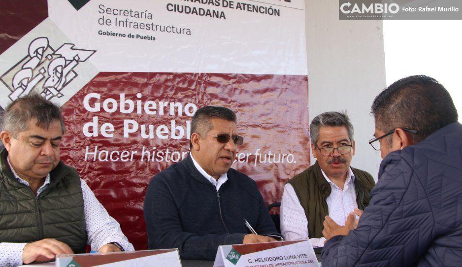 Secretaría de Infraestructura traslada su módulo de atención ciudadana a Zapotitlán