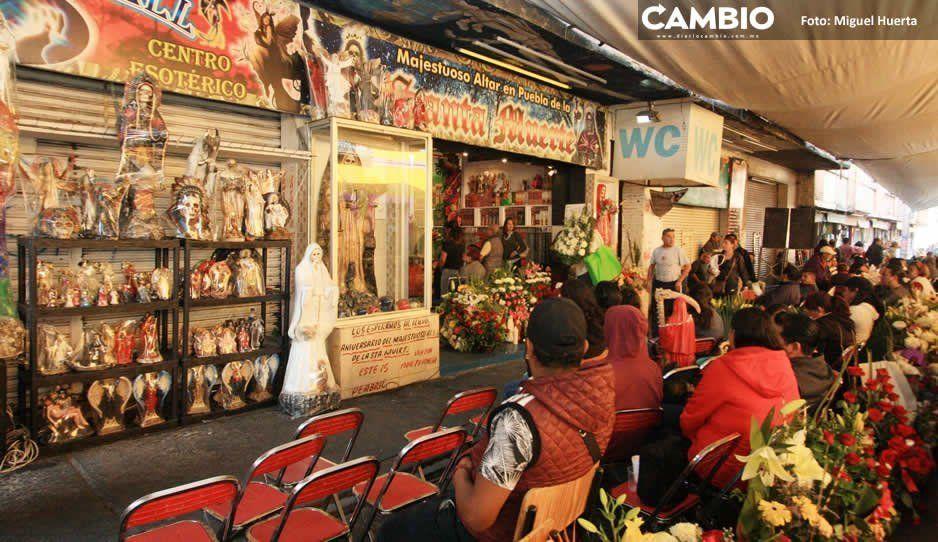 Puebla, segundo lugar de creyentes en la Santa Muerte, 17 mil devotos la celebran