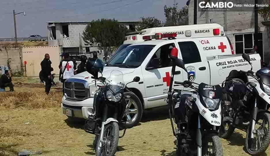 Cruz Roja de Texmelucan brinda atención a grupo de migrantes abandonados en la autopista México-Puebla