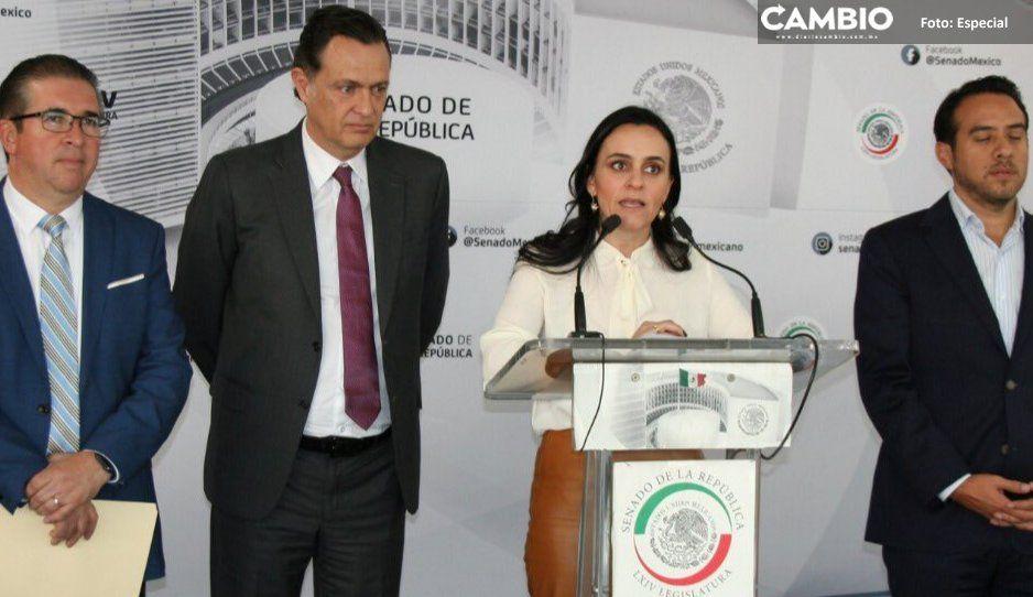 Bancada del PAN se cobija en el Senado y acusa a Morena de imposición en la ASE