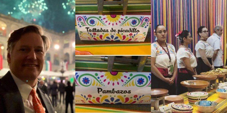 ¡Austeridad republicana! antojitos mexicanos y aguas frescas en kermés de AMLO el 15 de septiembre (FOTOS)