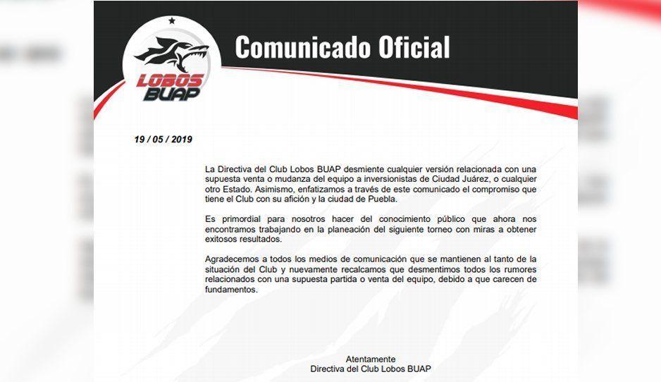 Rechaza directiva venta de Lobos a empresaria de Ciudad Juárez
