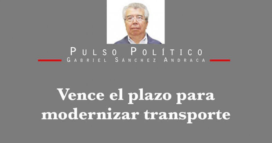 Vence el plazo para modernizar transporte