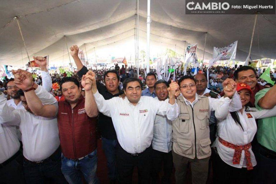 Esta campaña es potente y a muchos incomoda, dice Barbosa en Tepeaca