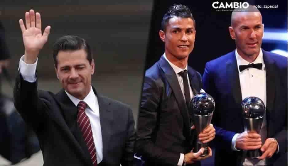 Cristiano Ronaldo y Zinedine Zidane tienen como vecino a Peña Nieto