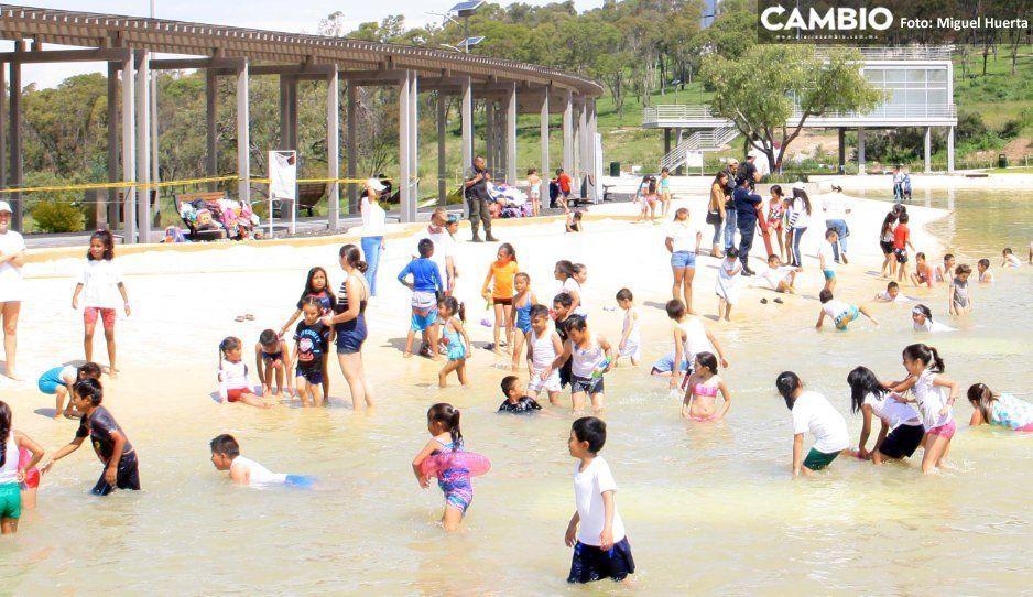 Se borra la sonrisa: desaparecerá Playa Amalucan, sólo habrá fuentes saltarinas