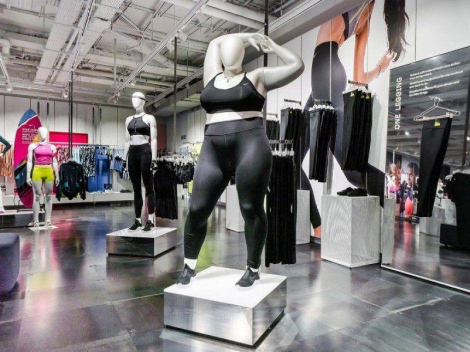 Nike comienza a incluir maniquís plus size, porque las gorditas hacen ejercicio