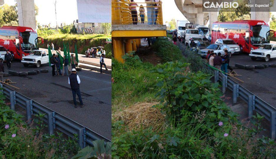 La UNTA y la 28 de octubre paralizan la autopista México-Puebla
