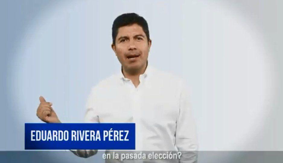 Lalo Rivera ooootra vez buscará la alcaldía de Puebla (VIDEO)