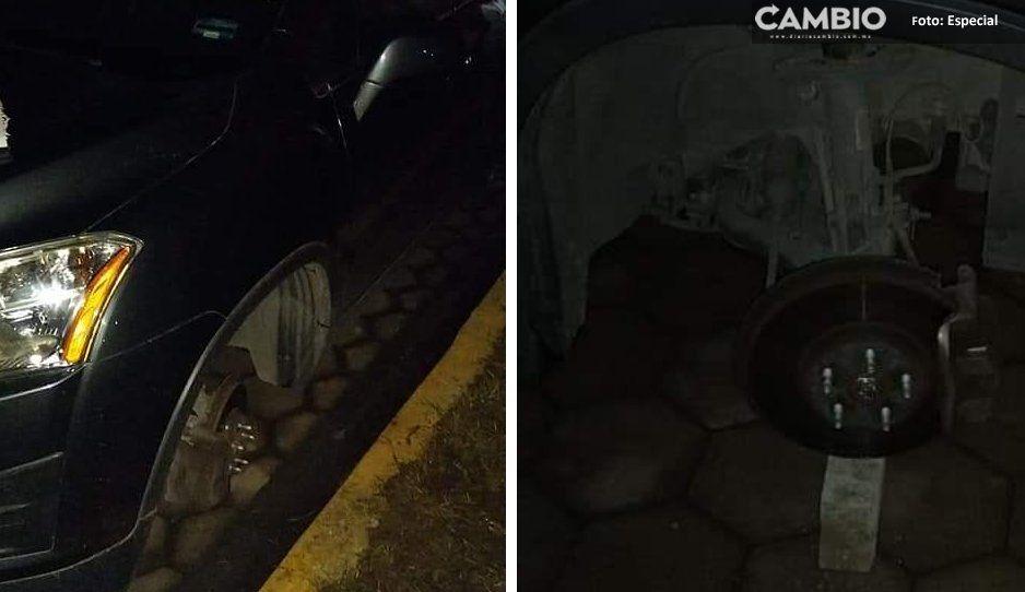A dos calles de la oficina de Karina Pérez, ratas desvalijan autos