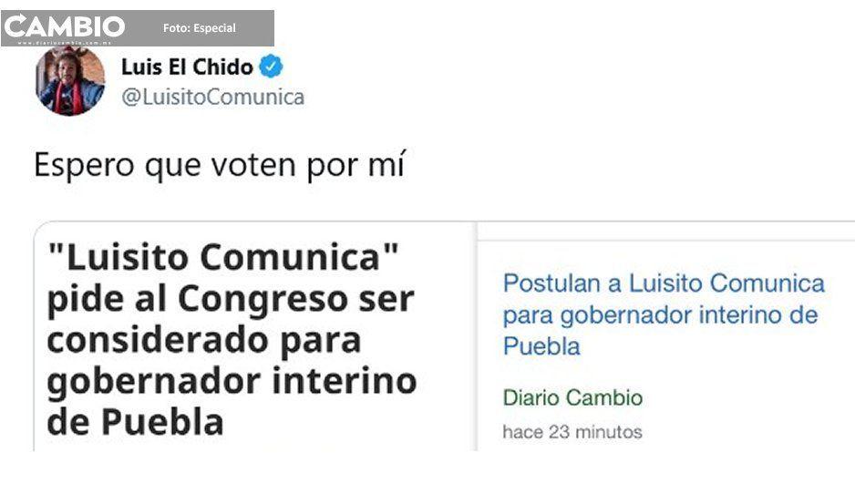 Luisito Comunica se burla de su registro para interinato y pide que voten por él