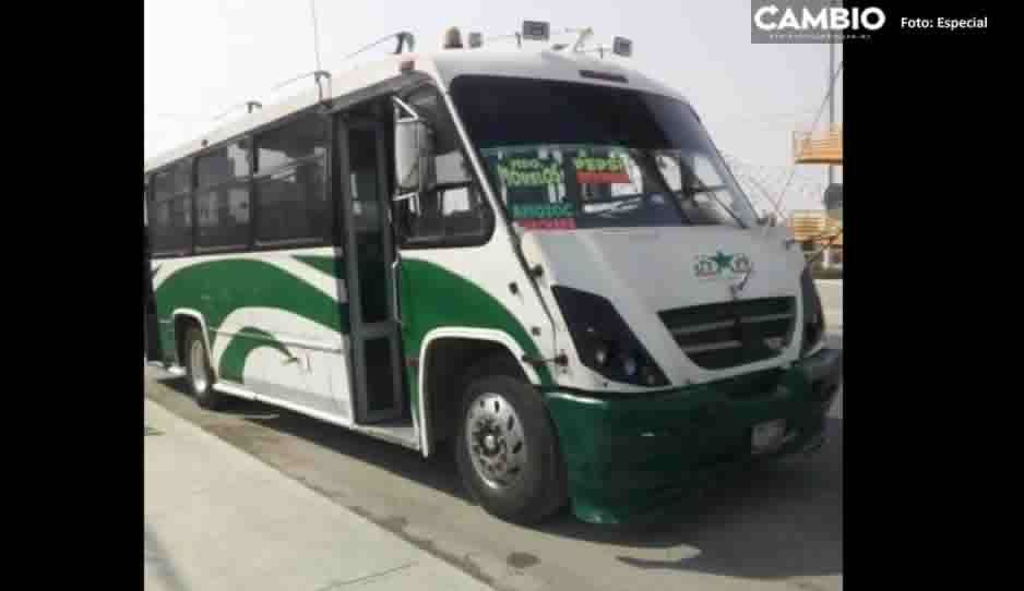 Con lujo de violencia roban autobús Navistar en zona de la Capu