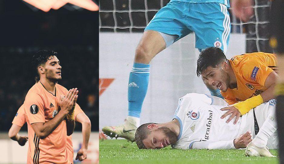 Raúl Jiménez noquea a defensa en la Europa League… también metió el gol del triunfo (VIDEOS)