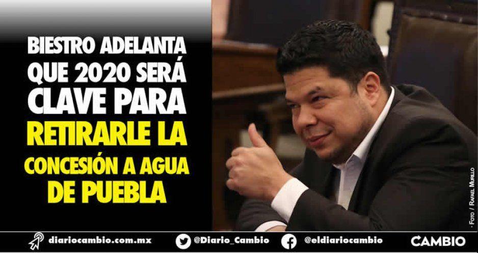 Biestro adelanta que 2020 será clave para  retirarle la concesión a Agua de Puebla