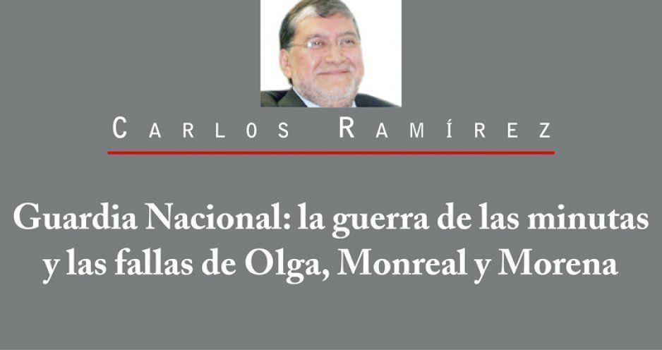 Guardia Nacional: la guerra de las minutas y las fallas de Olga, Monreal y Morena