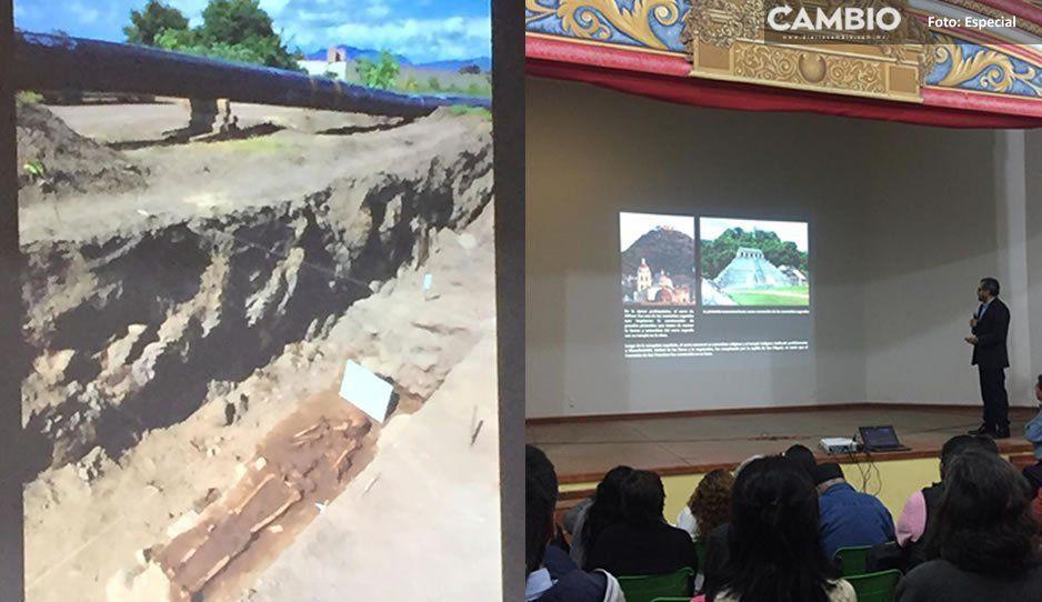 En obras de CFE encuentran riqueza prehispánica en Atlixco