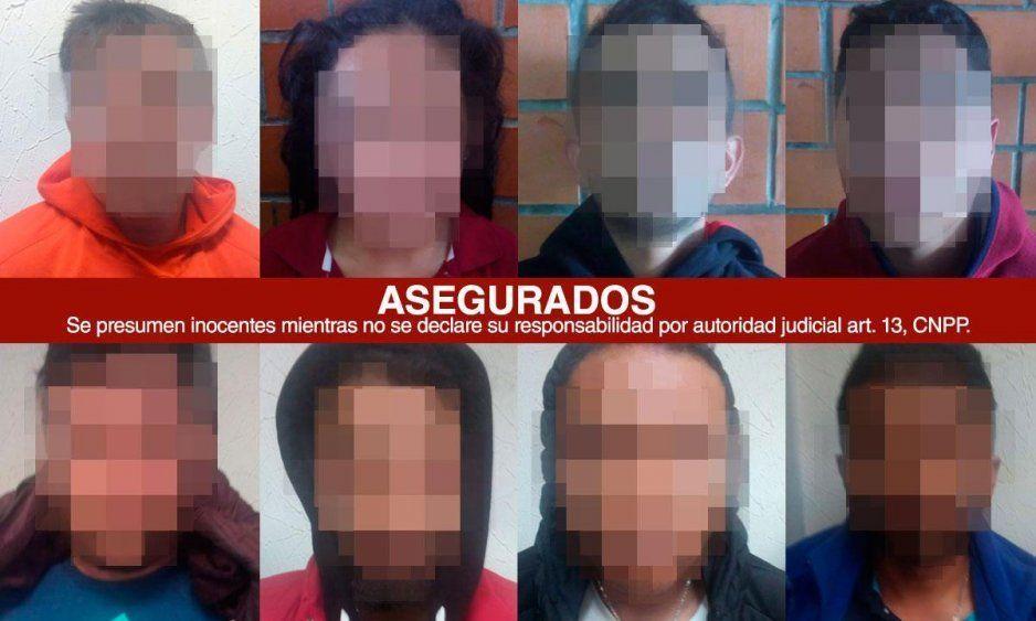 Estos son los integrantes de la huachibanda del Loco Téllez capturados en Tlaxcala