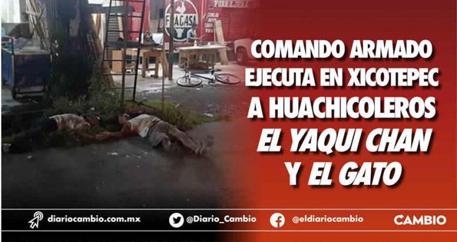 Comando armado ejecuta en Xicotepec a huachicoleros El Yaqui Chan y El Gato