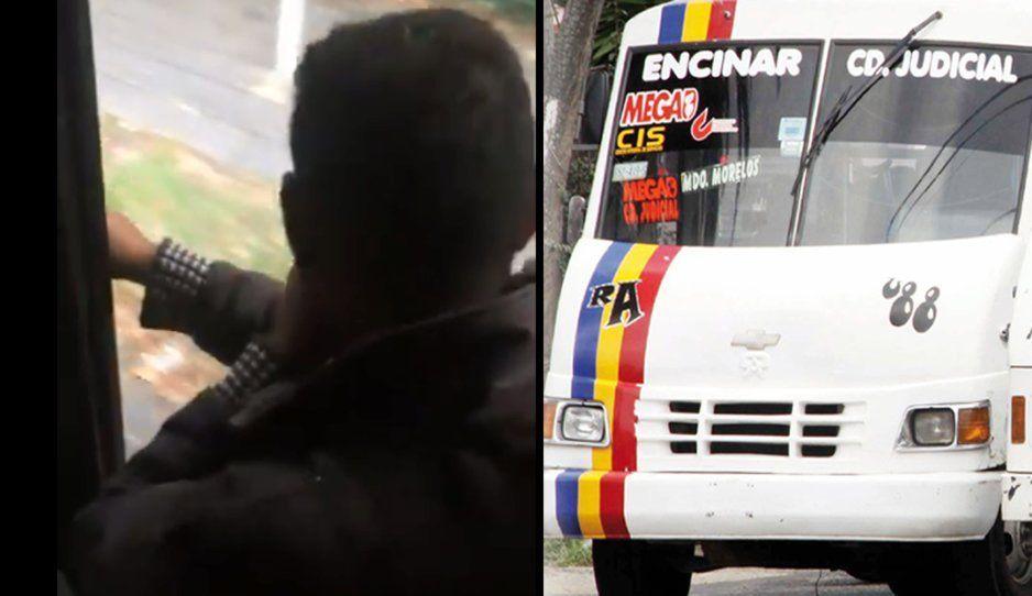 Cobrador de la Ruta Azteca se monea en la cara de los pasajeros… y así quieren aumento (VIDEO)
